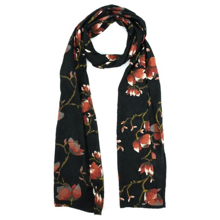 Masai Clothing Along Oriental Floral Scarf - Red