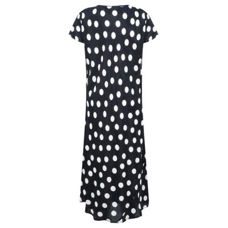 Masai Clothing Uma Spot Dress - Black