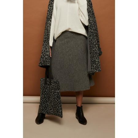 Masai Clothing Strom Wool Skirt - Grey