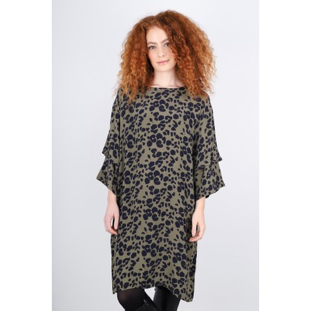 Masai Clothing Nonny Leopard Dress - Green