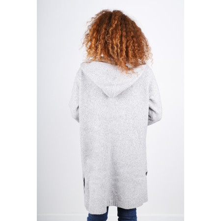 Masai Clothing Lotti Long Length Knitted Cardigan - Blue