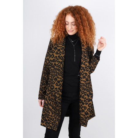Masai Clothing Jonna Leopard Print Jacket - Brown