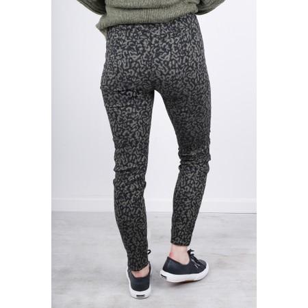 Masai Clothing Poppy Cropped Animal Print Trouser - Green
