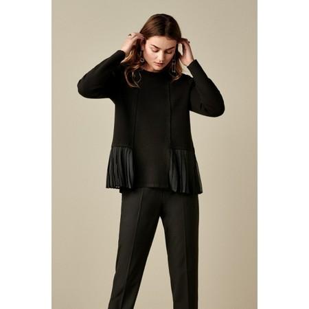 Sandwich Clothing Pleat Detail Knit Jumper - Black