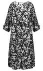 Masai Clothing Black Org Nora Floral Dress