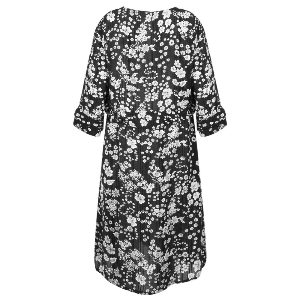 Masai Clothing Nora Floral Dress Black Org