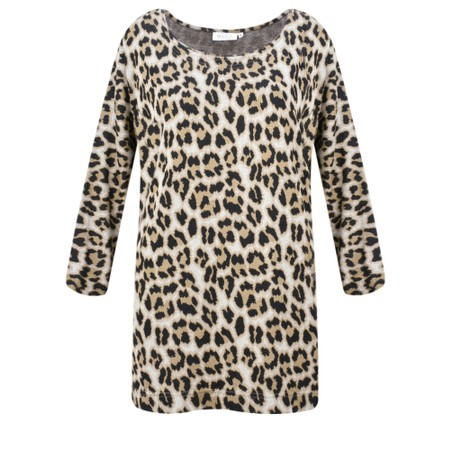 Masai Clothing Bluma Leopard Top - Brown