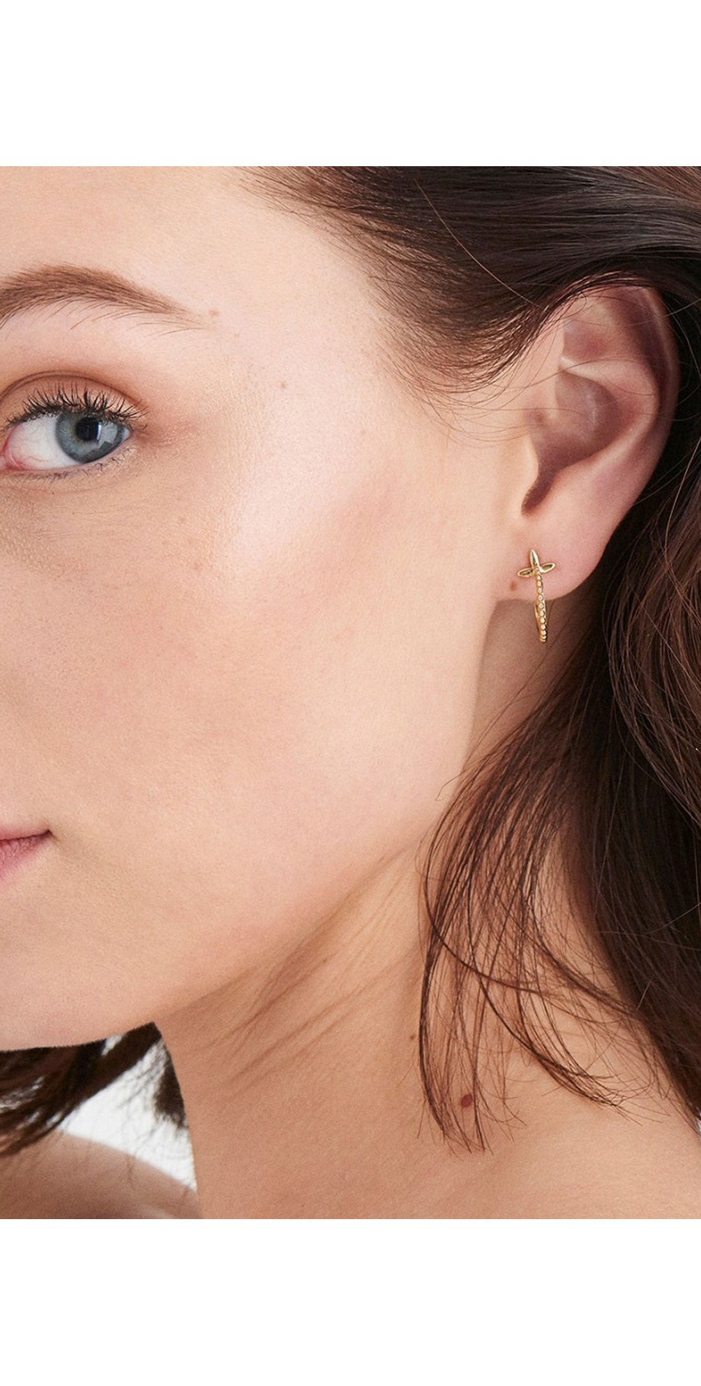 Modern Beaded Hoop Earrings main image