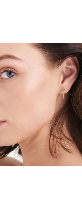 Ania Haie Modern Beaded Hoop Earrings Gold