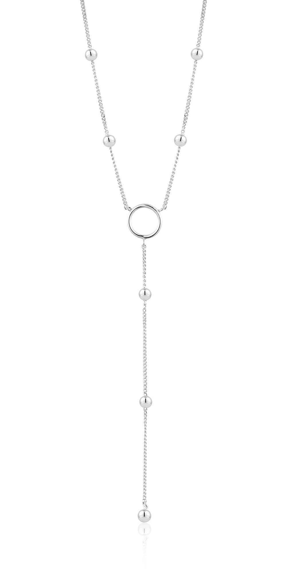 Modern Circle Y Necklace main image