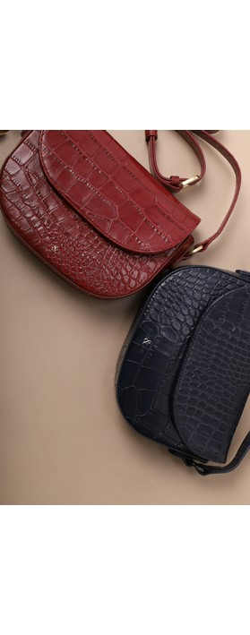 Bell & Fox Callie Mini Saddle Cross Body Bag Garnet