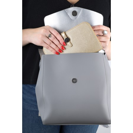 Inyati Thalie Faux Leather Backpack - Grey
