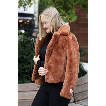 RINO AND PELLE Juna Faux Fur Easyfit Coat - Red