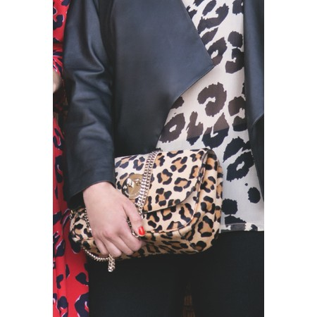 Hill & Friends Happy Cross Body Chain Bag - Beige