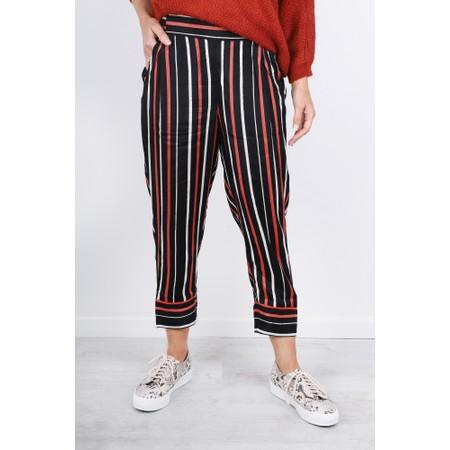 Masai Clothing Petrina Stripe Culotte - Red
