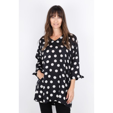 Masai Clothing Grassa Polka Dots Tunic - Black