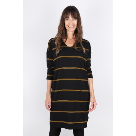 Masai Clothing Nebine Stripe Dress - Brown
