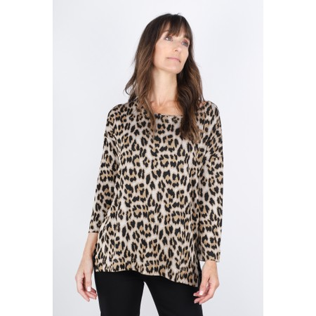 Masai Clothing Bluma Leopard Top - Brown