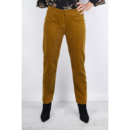 Masai Clothing Petuli  Fitted Corduroy Trousers - Brown