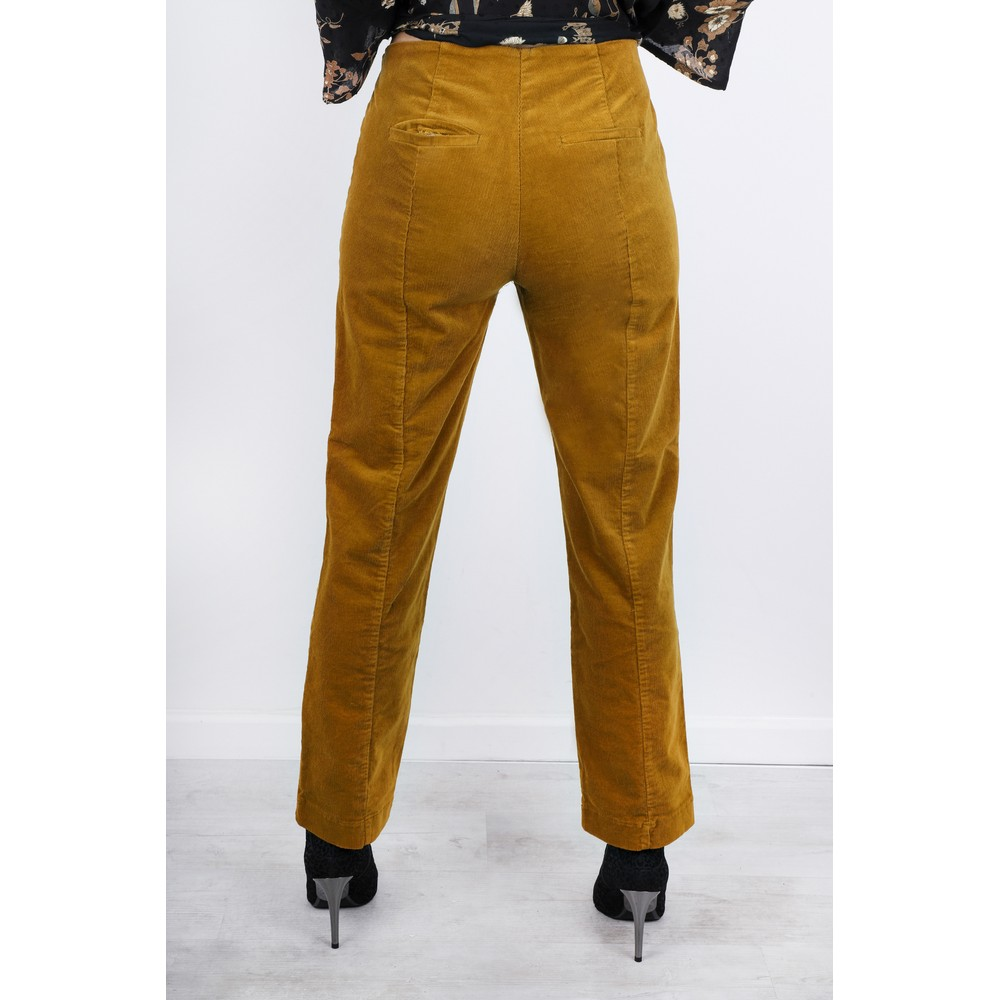 Masai Clothing Petuli  Fitted Corduroy Trousers Ginger