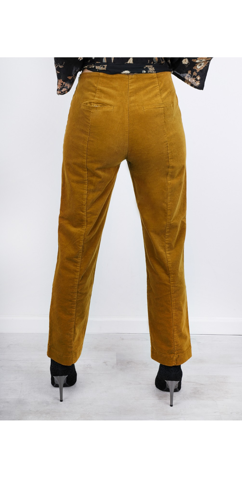 Petuli  Fitted Corduroy Trousers main image
