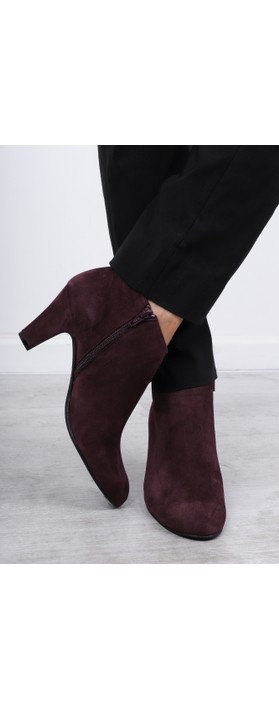 Gemini Label  Xelipe Suede Ankle Boot Jumilla Wine