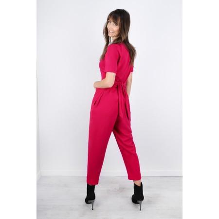 Great Plains Soho Drape Tie Waist Jumpsuit - Pink