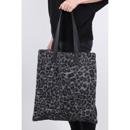 Masai Clothing Mandy Leopard Tote Bag - Grey