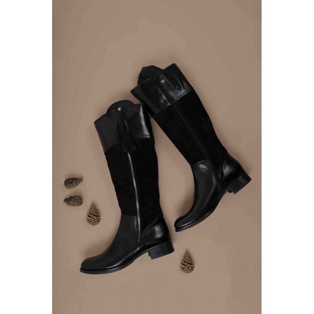 Luis Gonzalo Beatrice Long Gaucho Boot Black Multi