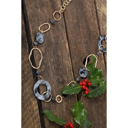 Eliza Gracious Nacre Long Necklace - Black
