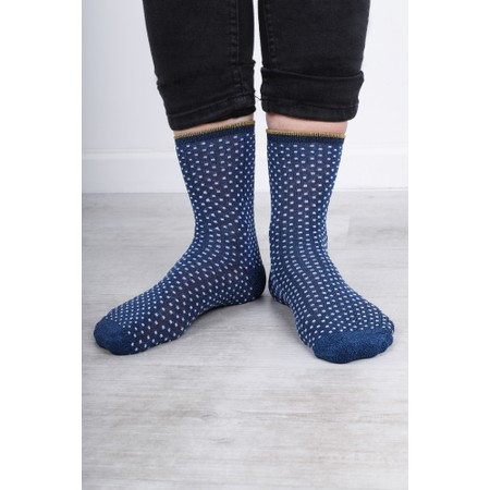 BeckSondergaard Dina Small Dots Socks - Blue