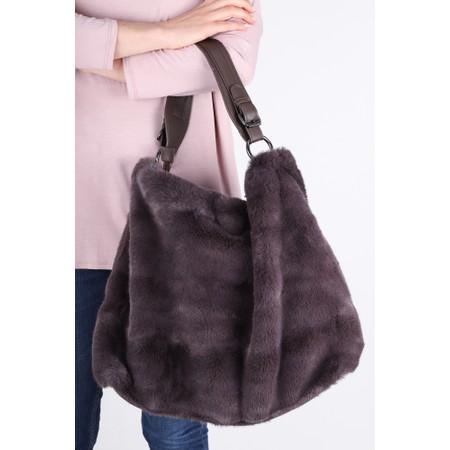 Gemini Label  Hebe Faux Fur Tote Bag - Brown