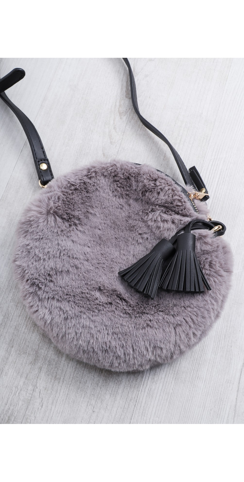 Nala Faux Fur Round Bag main image
