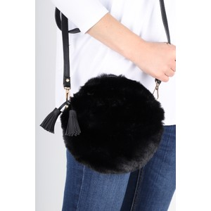Gemini Label  Nala Faux Fur Round Bag