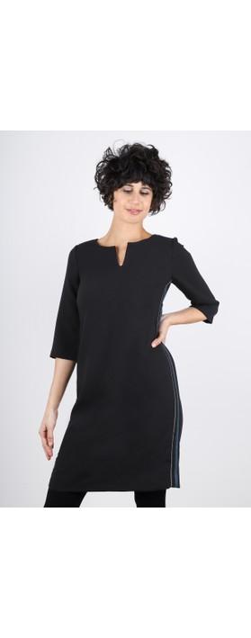 Sandwich Clothing Stripe Side Party Dress Black