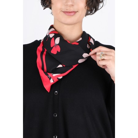 Sandwich Clothing Posy Print Square Scarf - Black