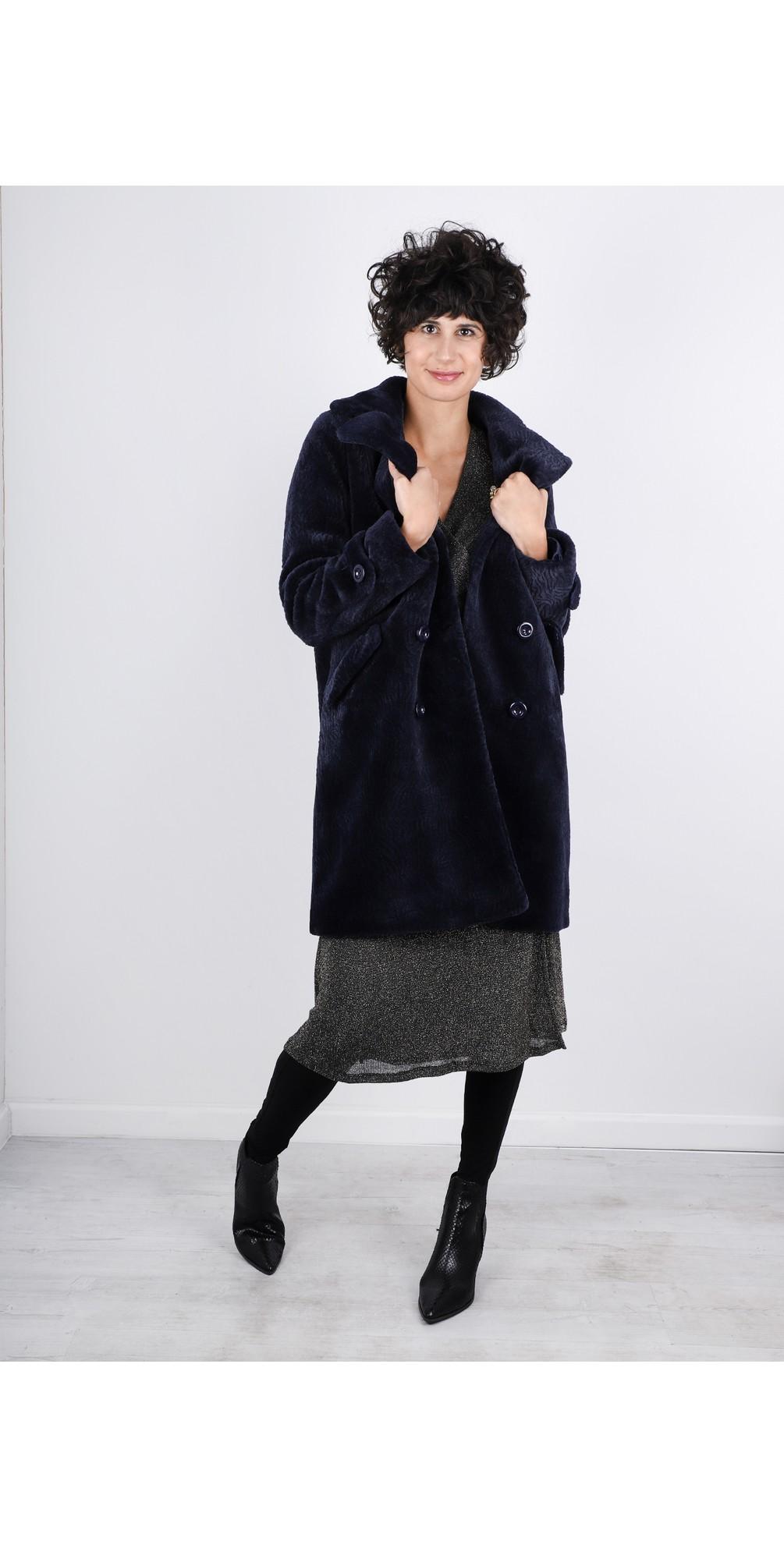Gala Faux Fur Double Breasted Coat main image