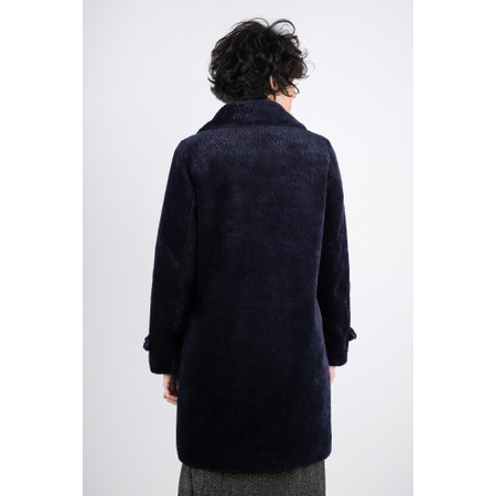 RINO AND PELLE Gala Faux Fur Double Breasted Coat - Blue