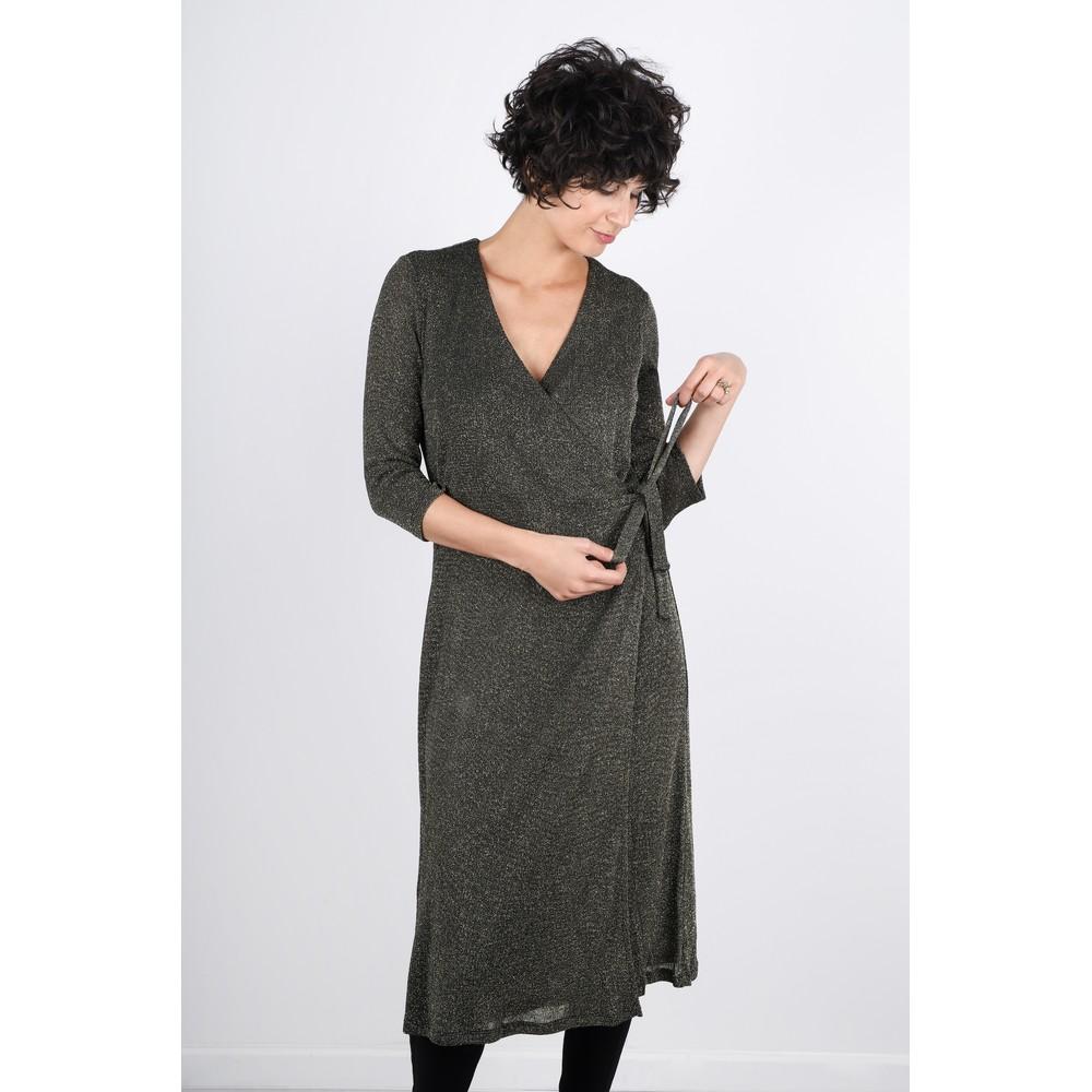 Great Plains Ivy Luxury Lurex Jersey Dress Black / Gold