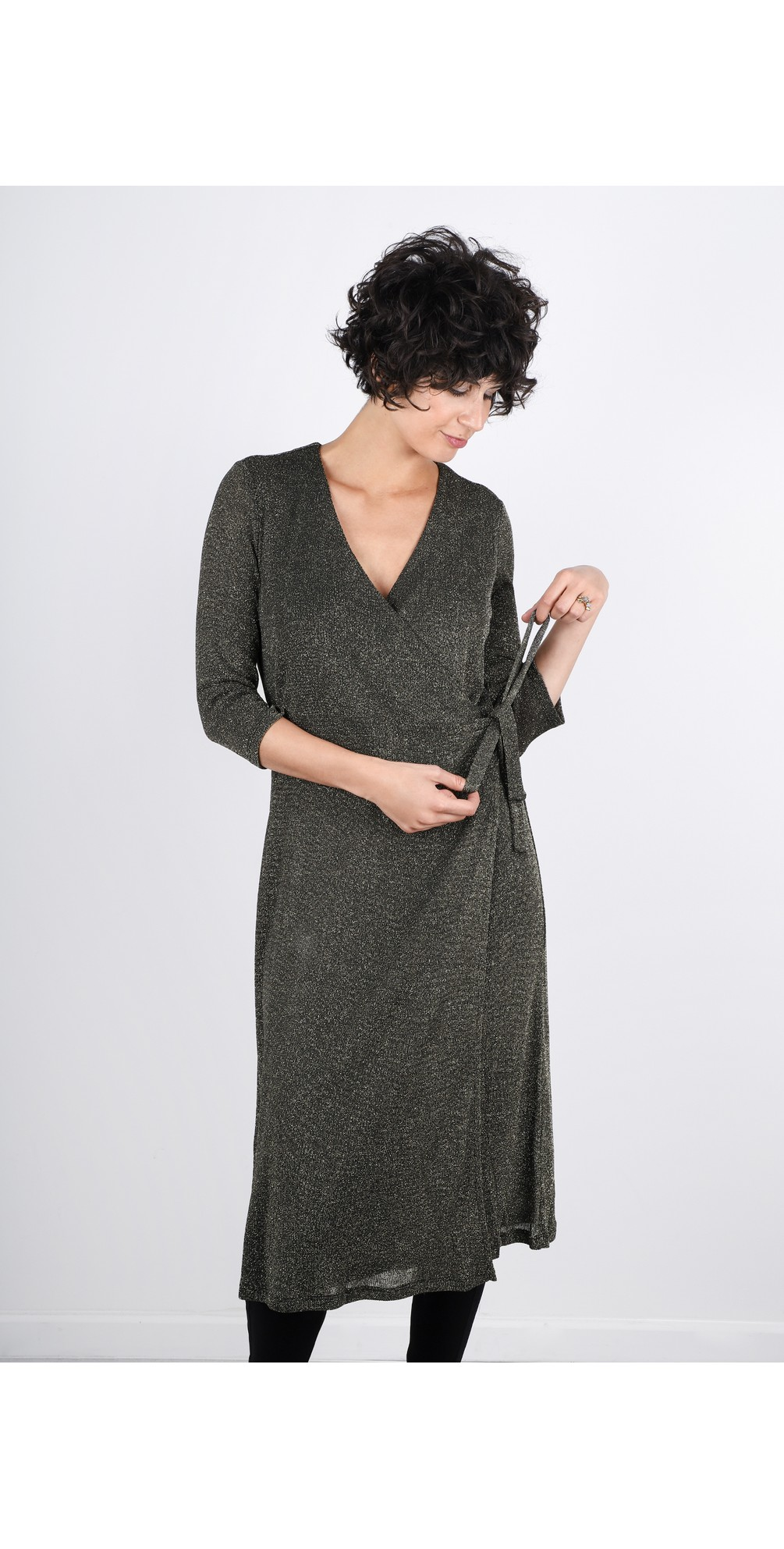 Ivy Luxury Lurex Jersey Dress main image