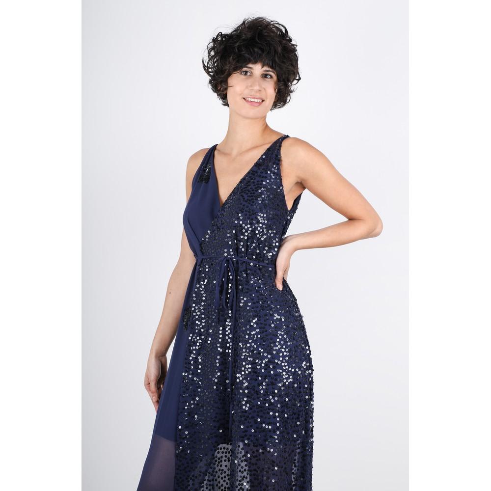 French Connection Aurora Embellished Dress Stellar Blue