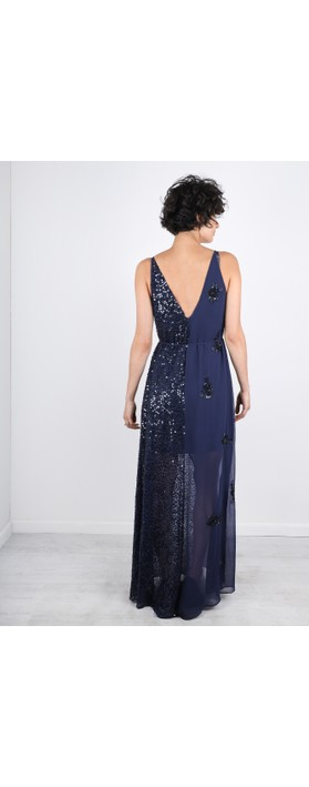 French Connection Aurora Embellished Dress Stellar Blue