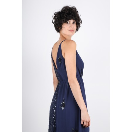 French Connection Aurora Embellished Dress - Blue