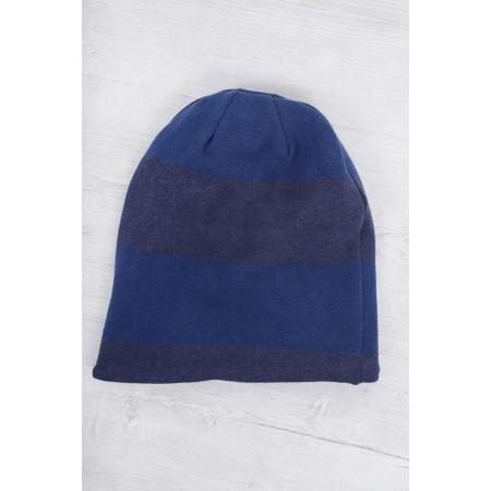 Mama B Kaki Stripe Hat - Blue