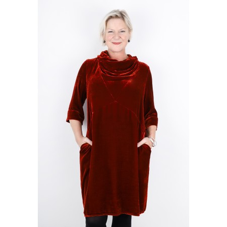 Grizas Nessa Cowl Neckline Tunic Dress - Orange