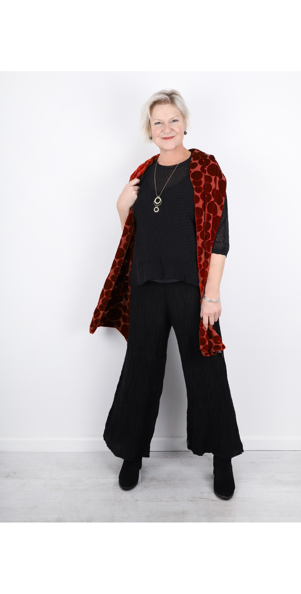 Gvidas Silk Crinkle Wide Leg Cullotte Trousers main image