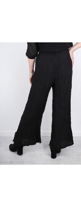 Grizas Gvidas Silk Crinkle Wide Leg Cullotte Trousers Black 17