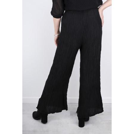 Grizas Gvidas Silk Crinkle Wide Leg Cullotte Trousers - Black