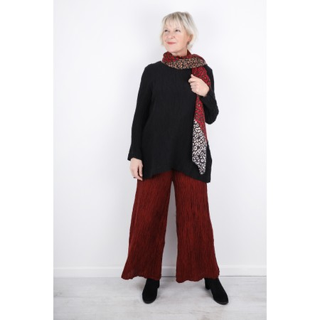 Grizas Gvidas Silk Crinkle Wide Leg Cullotte Trousers - Red
