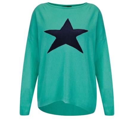 Luella Classic Star Cashmere Blend Jumper - Green